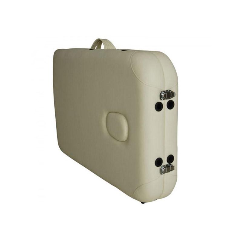 Φορητό Ξύλινο Αναδιπλούμενο Επαγγελματικό Κρεβάτι - Κλίνη Μασάζ Φυσικοθεραπείας 2 Ζωνών Χρώματος Μπεζ HOMCOM 5550-3292