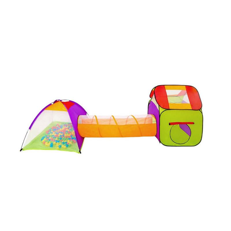 Σετ 2 Παιδικές Σκηνές με Τούνελ και 200 Μπάλες Hoppline HOP1000915-1