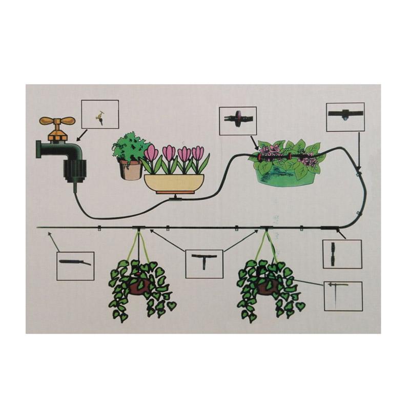 Σύστημα Ποτίσματος Ψεκασμού Άρδευσης με 10 Μπεκ και Λάστιχο 23 m Hoppline HOP1000727