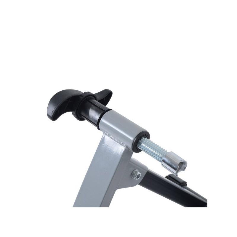 Αναδιπλούμενο Μαγνητικό Προπονητήριο Οπίσθιου Τροχού Χρώματος Ασημί Turbo Trainer HOMCOM 5661-0020SL