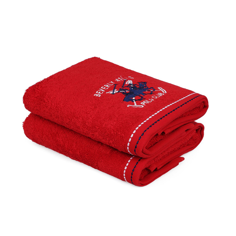Σετ με 2 Πετσέτες Προσώπου 50 x 90 cm Χρώματος Κόκκινο Beverly Hills Polo Club 355BHP2228