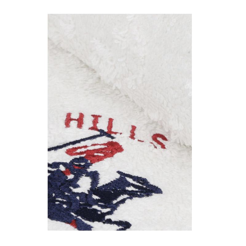Σετ με 2 Πετσέτες Προσώπου 50 x 90 cm Χρώματος Λευκό Beverly Hills Polo Club 355BHP2231