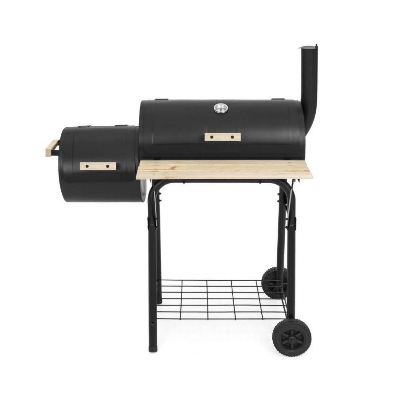 Τροχήλατη Ψησταριά - Μπάρμπεκιου Καπνίσματος 2 σε 1 Hoppline HOP1000928-1