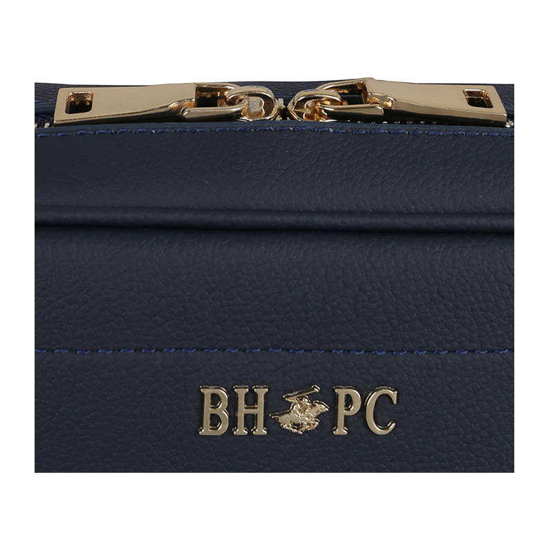 Δερμάτινη Γυναικεία Τσάντα Ώμου Χρώματος Navy Beverly Hills Polo Club 118 661BHP0148