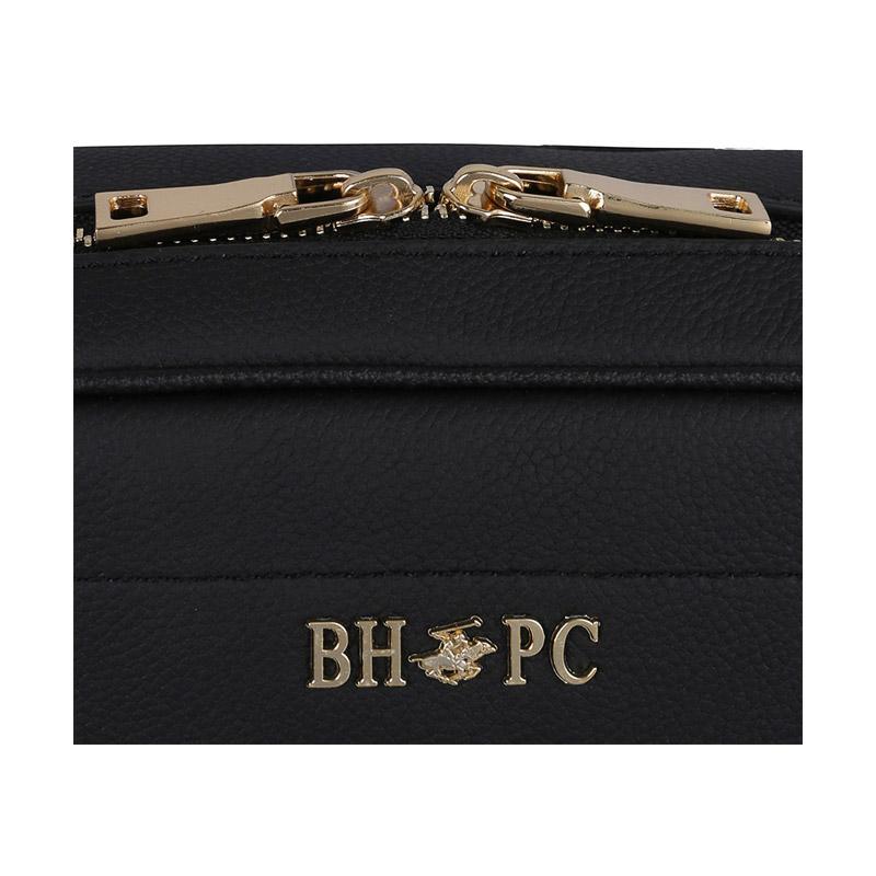 Δερμάτινη Γυναικεία Τσάντα Ώμου Χρώματος Μαύρο Beverly Hills Polo Club 118 661BHP0145