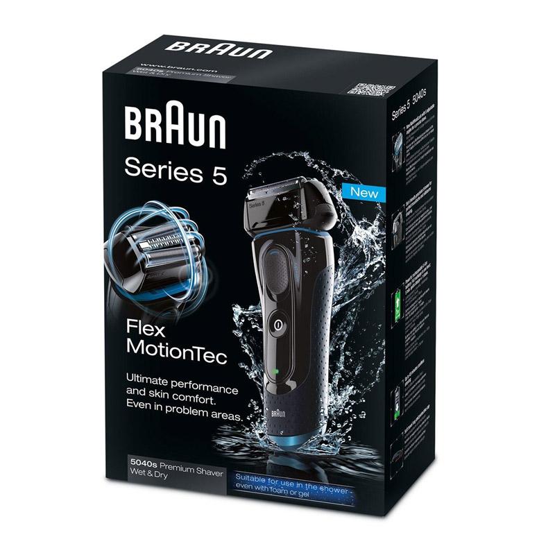 Επαναφορτιζόμενη Ξυριστική Μηχανή Braun Series 5 Wet & Dry 5040S