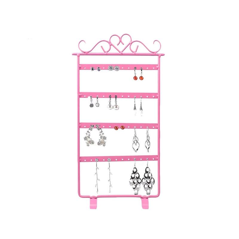 Μεταλλικό Σταντ για Σκουλαρίκια και Κολιέ Χρώματος Ροζ SPM DB4912