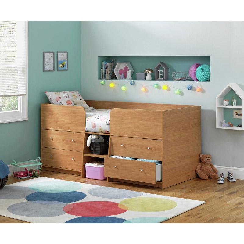 Υπερυψωμένο Παιδικό Κρεβάτι 79.9 x 180 x 91.7 cm SPM Malibu Mid-Sleeper 7289116