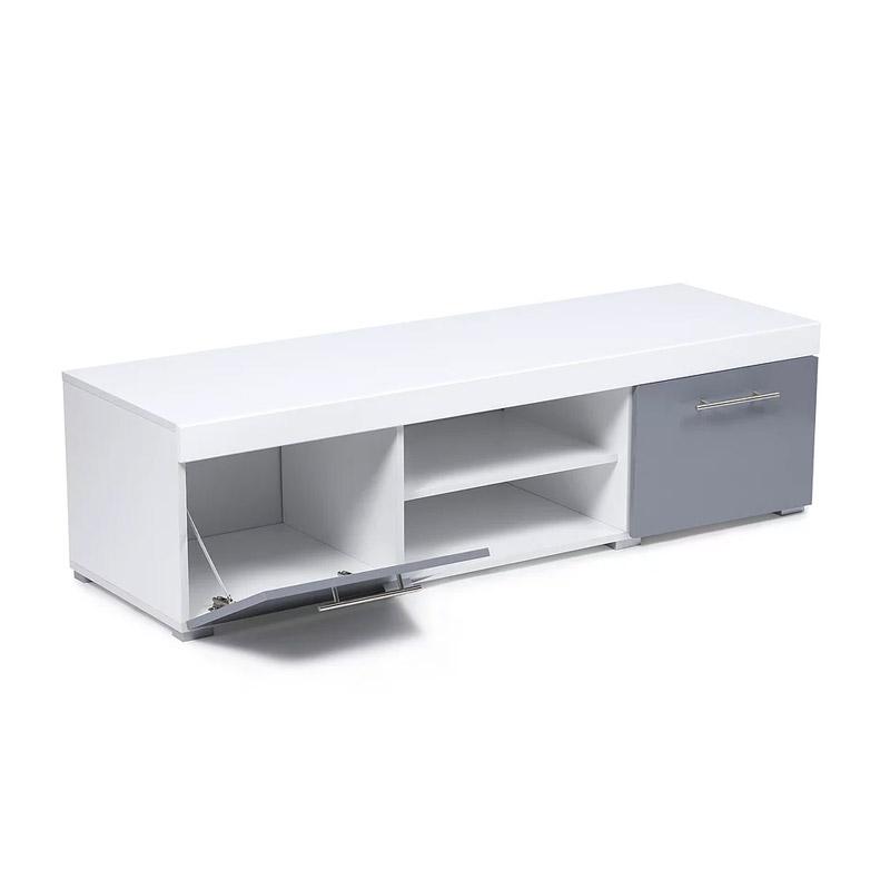 Ξύλινο Έπιπλο Τηλεόρασης 140 x 45 x 39 cm Χρώματος Γκρι Oxford SPM 30080205