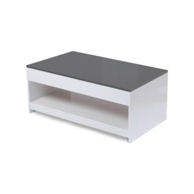 Ξύλινο Τραπέζι Σαλονιού 110 x 60.5 x 45 cm Χρώματος Γκρι Idomya 30080084