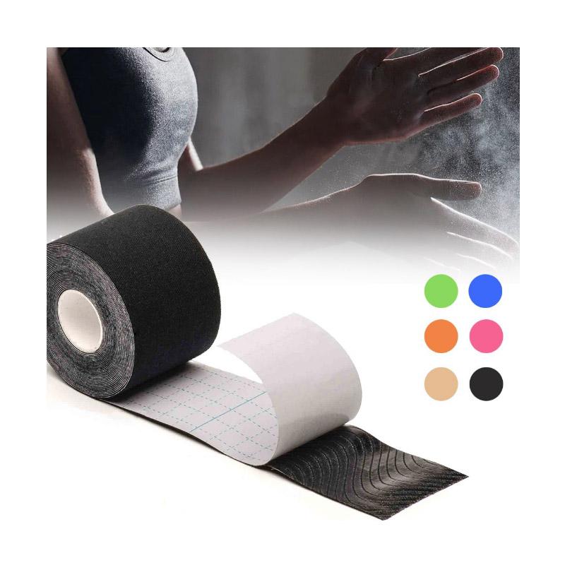 Σετ Αδιάβροχες Ταινίες Κινησιολογίας 5 cm x 5 m 4 τμχ Χρώματος Μαύρο Hoppline HOP1000971-4