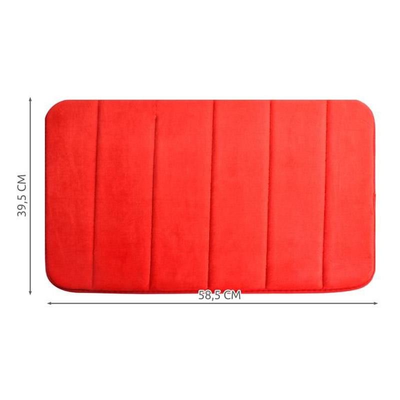 Αντιολισθητικό Πατάκι Μπάνιου με Memory Foam 58.5 x 39.5 cm Χρώματος Κόκκινο SPM 8475