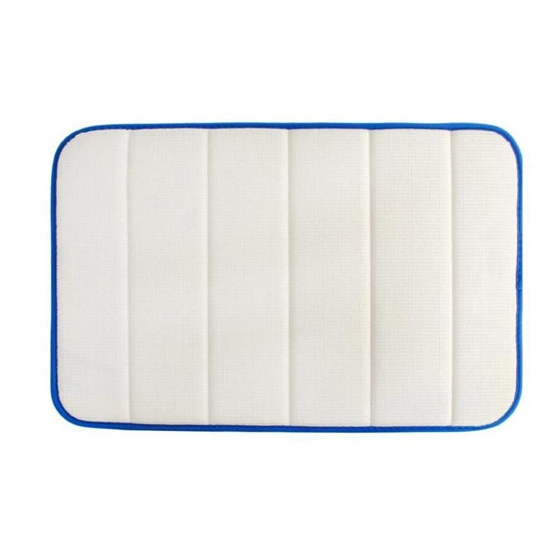 Αντιολισθητικό Πατάκι Μπάνιου με Memory Foam 58.5 x 39.5 cm Χρώματος Μπλε SPM 8476
