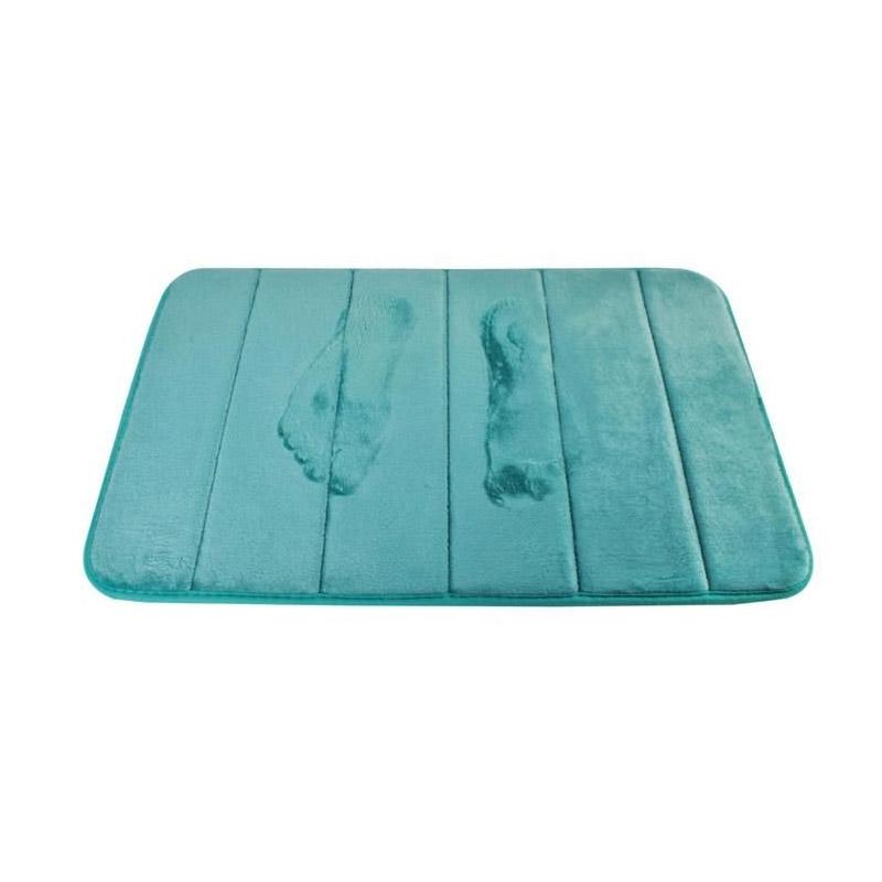 Αντιολισθητικό Πατάκι Μπάνιου με Memory Foam 58.5 x 39.5 cm Χρώματος Τιρκουάζ SPM 8477