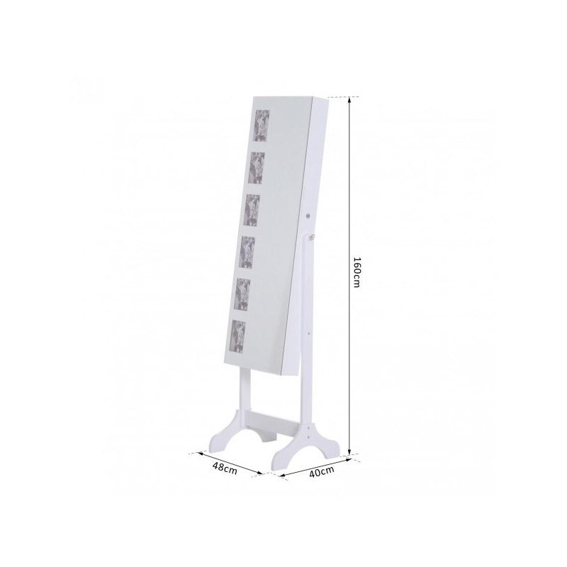 Κοσμηματοθήκη Μπιζουτιέρα με Ολόσωμο Καθρέπτη 48 x 40 x 160 cm HOMCOM 831-239