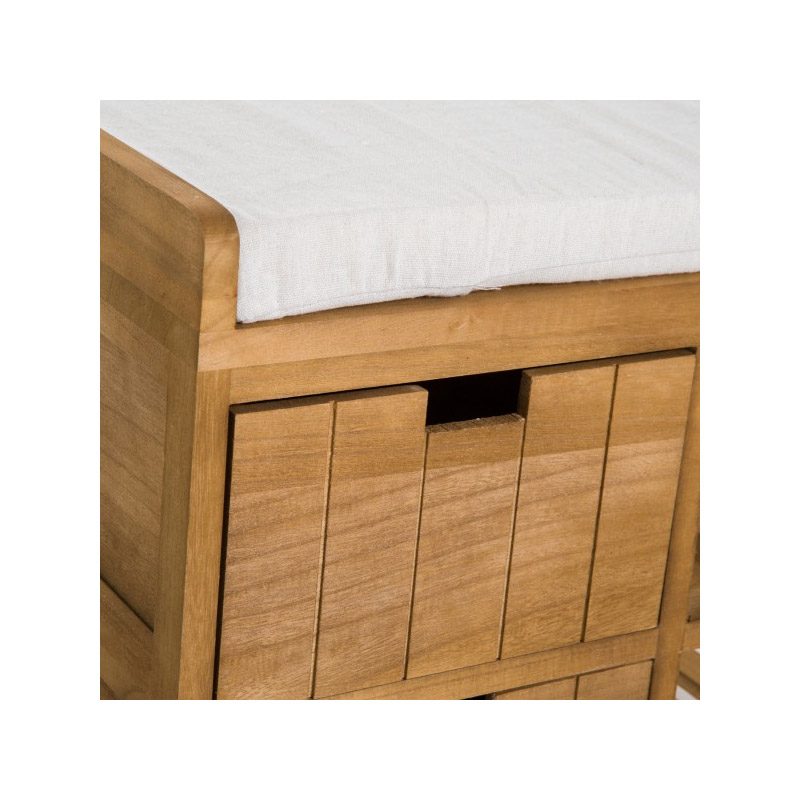 Ξύλινη Παπουτσοθήκη με Κάθισμα 69 x 34 x 48 cm HOMCOM 833-476
