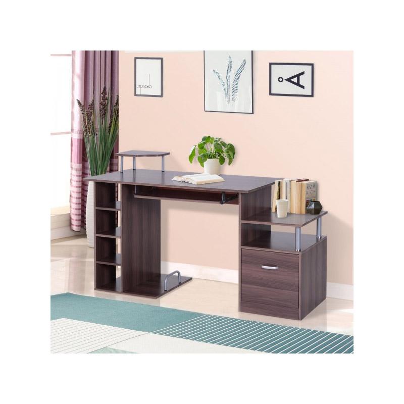 Ξύλινο Γραφείο με Θέση για Υπολογιστή και Πληκτρολόγιο 152 x 60 x 88 cm HOMCOM A2-0082
