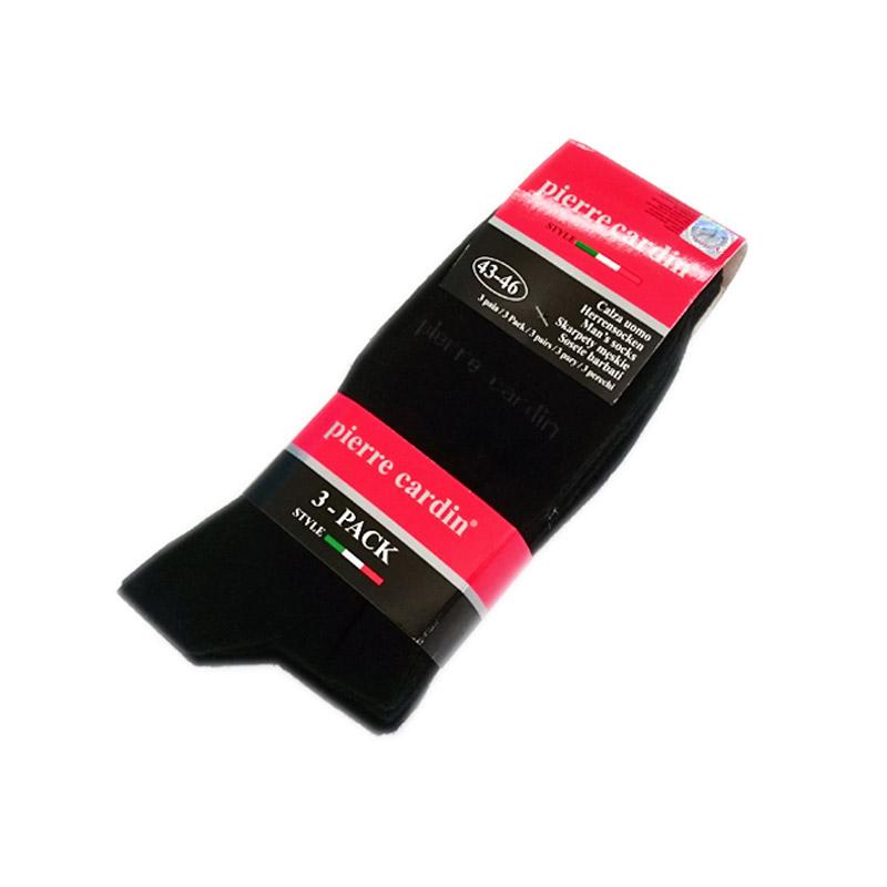 Σετ 3 Ζευγάρια Ανδρικές Κάλτσες Pierre Cardin Χρώματος Μαύρο 43-46 7653