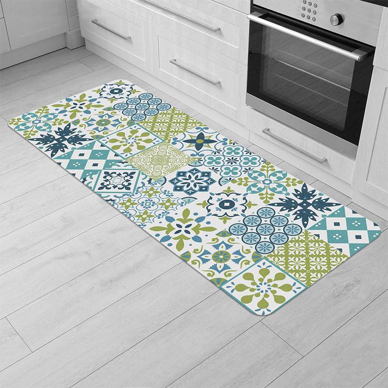 Χαλάκι Κουζίνας 45 x 120 cm Χρώματος Πράσινο Douceur d'Intérieur 1740702
