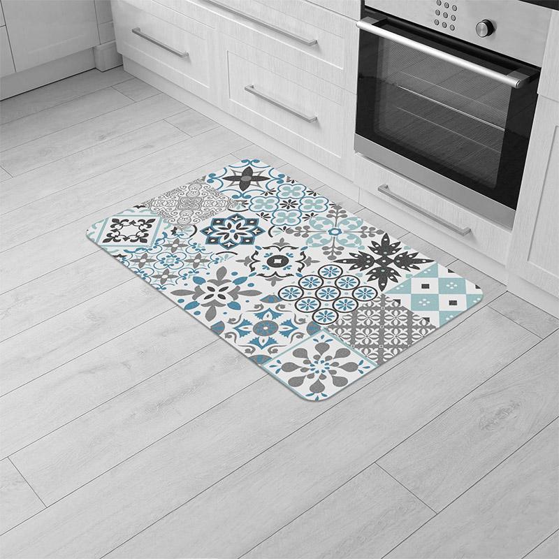 Χαλάκι Κουζίνας 45 x 75 cm Χρώματος Μπλε Douceur d'Intérieur 1740703