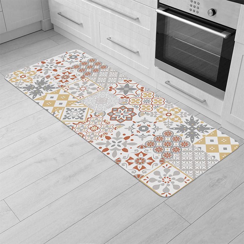 Χαλάκι Κουζίνας 45 x 120 cm Χρώματος Πορτοκαλί Douceur d'Intérieur 1740700