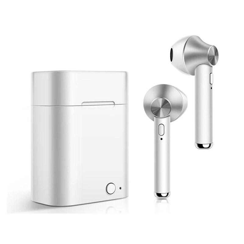 Ασύρματα Ακουστικά Bluetooth με Βάση Φόρτισης Χρώματος Ασημί Kequ DYN-K408