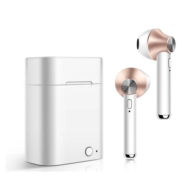 Ασύρματα Ακουστικά Bluetooth με Βάση Φόρτισης Χρώματος Χρυσό Kequ DYN-K408
