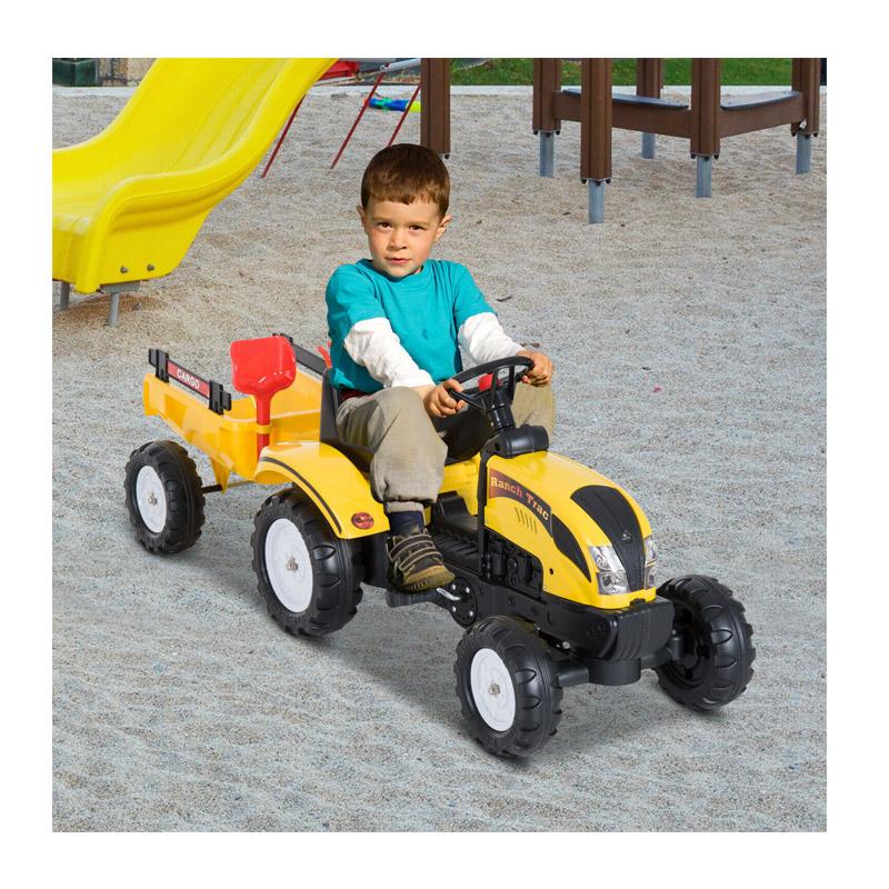 Παιδικό Τρακτέρ με Καρότσα HOMCOM 341-017