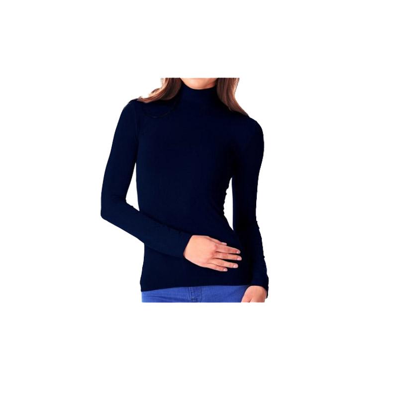 Σετ Γυναικεία Πουλόβερ με Ζιβάγκο και Επένδυση Fleece Χρώματος Μπλε 2 τμχ MWS16327