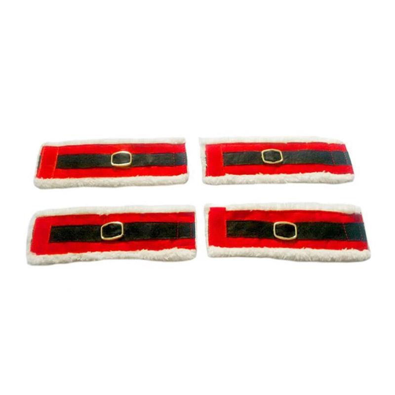Σετ Χριστουγεννιάτικα Δαχτυλίδια Πετσέτας Φαγητού 4 τμχ SPM DYN-SantaBeltNapRing
