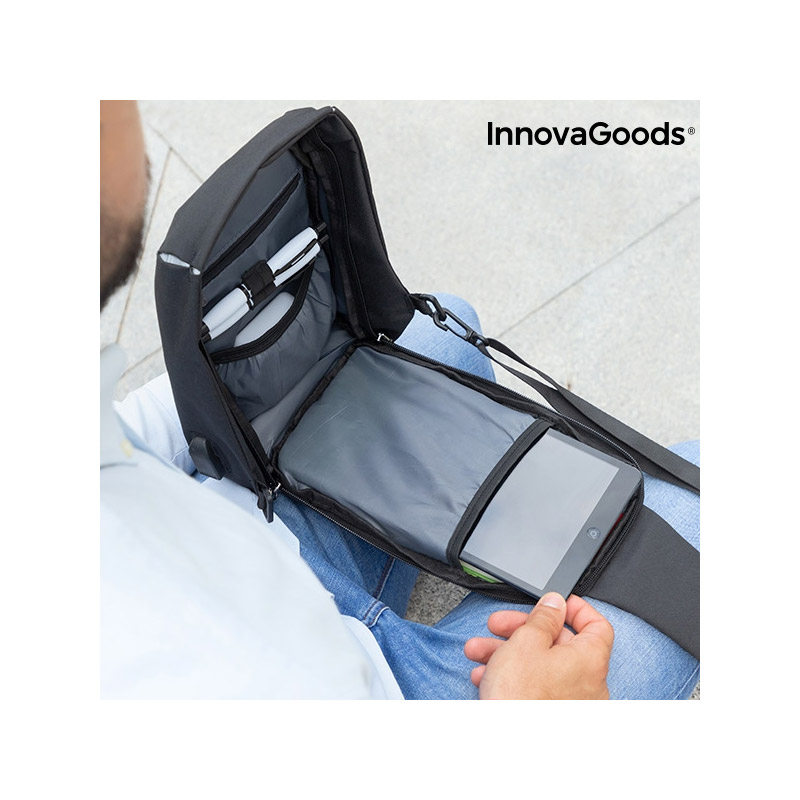 Αντικλεπτικό Χιαστί Σακίδιο Ώμου με Θύρα Φόρτισης USB InnovaGoods V0101189