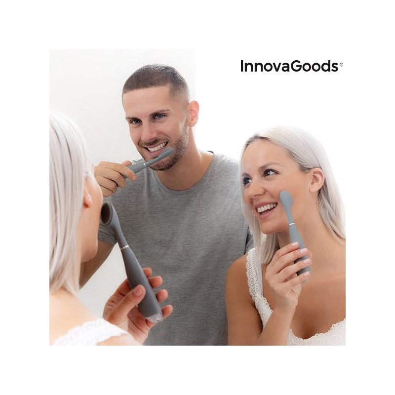 Επαναφορτιζόμενη Οδοντόβουρτσα Σιλικόνης με Αξεσουάρ Klinfor InnovaGoods V0101272