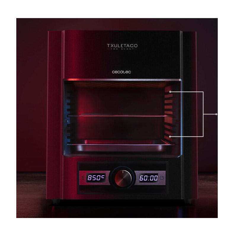 Ψηστιέρα 850 °C για Επαγγελματικό Ψήσιμο σε 3 Λεπτά 2000 W Cecotec Txuletaco The Beast 6850 CEC-03063