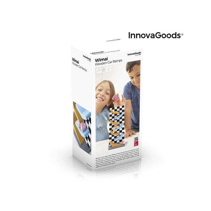 Ξύλινη Πίστα με Ράμπες για Αυτοκίνητα Wimai InnovaGoods V0103012