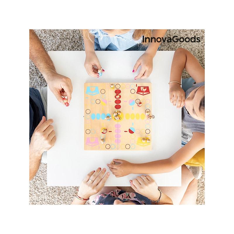 Ξύλινο Επιτραπέζιο Παιχνίδι με Φιγούρες Ζώων Pake InnovaGoods V0101252