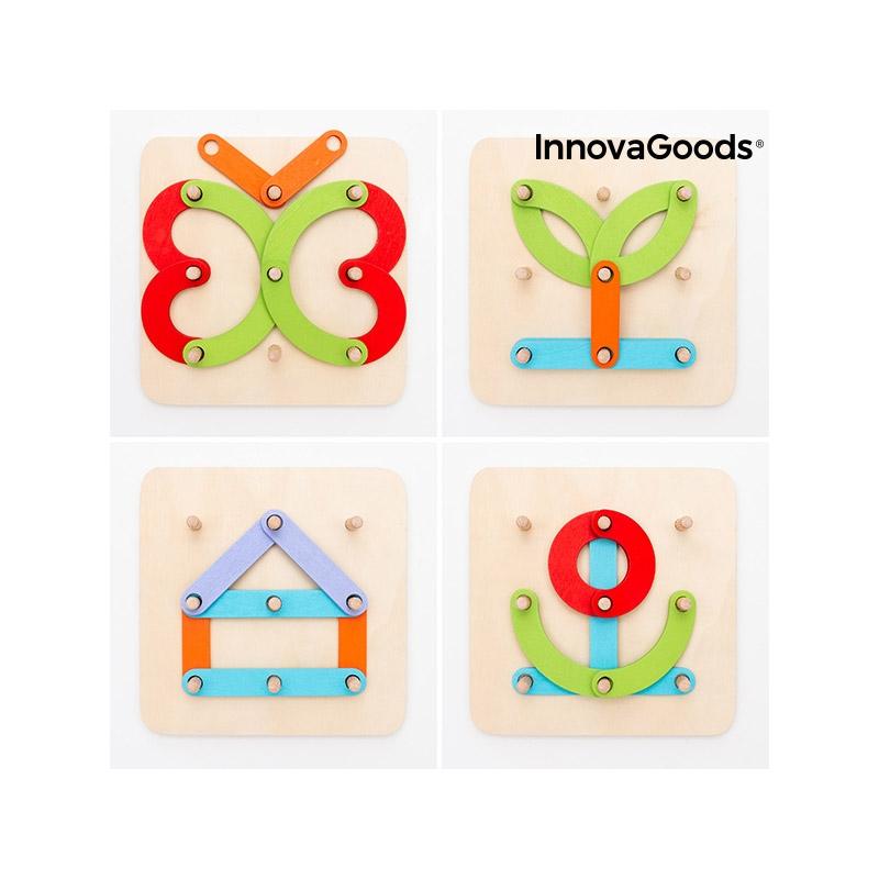 Ξύλινο Παιχνίδι Εκμάθησης Αριθμών και Γραμμάτων Koogame InnovaGoods V0103013