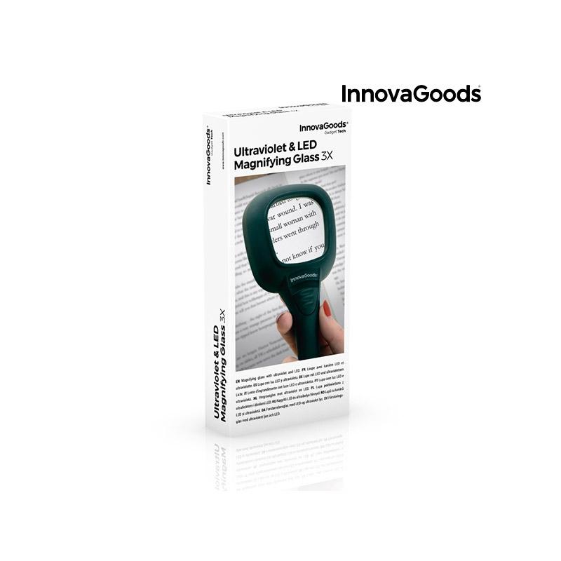 Μεγεθυντικός Φακός με LED και Υπεριώδη Φωτισμό InnovaGoods V0100951