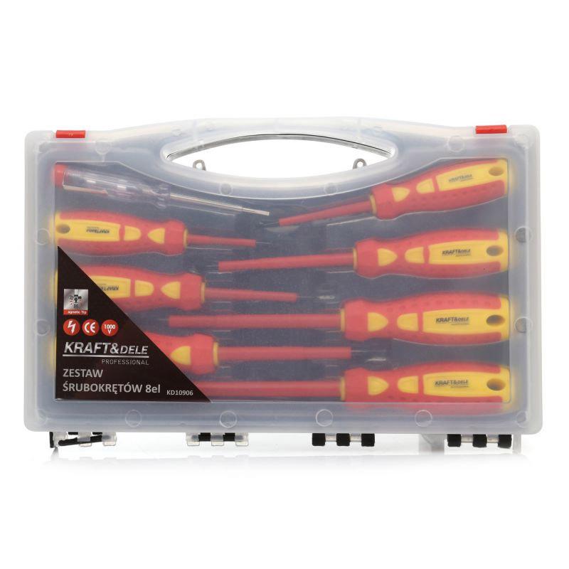 Σετ Κατσαβίδια Ηλεκτρολόγου 8 τμχ σε Βαλιτσάκι Kraft&Dele KD-10906
