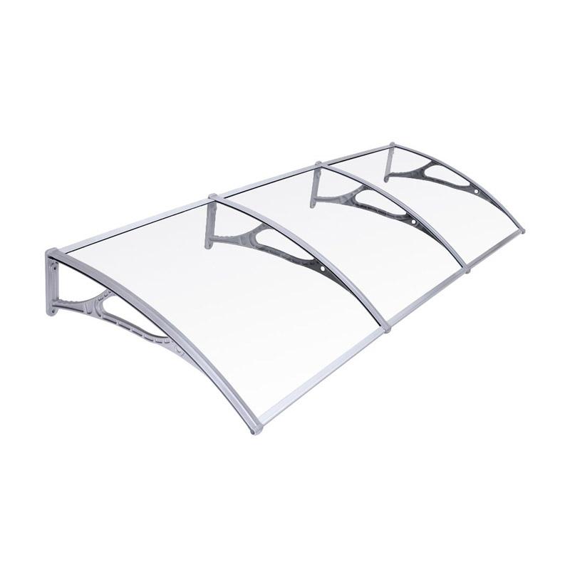 Τριπλό Πλαστικό Κιόσκι - Τέντα Πόρτας Εισόδου 270 x 90 cm Songmics GVH279