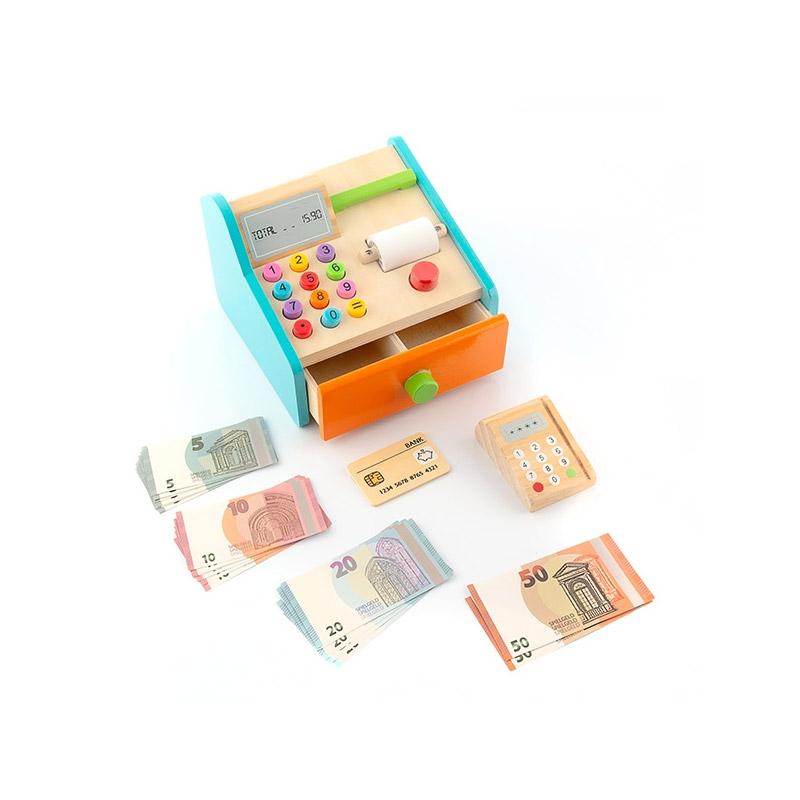 Ξύλινη Παιδική Ταμειακή Μηχανή InnovaGoods V0101268