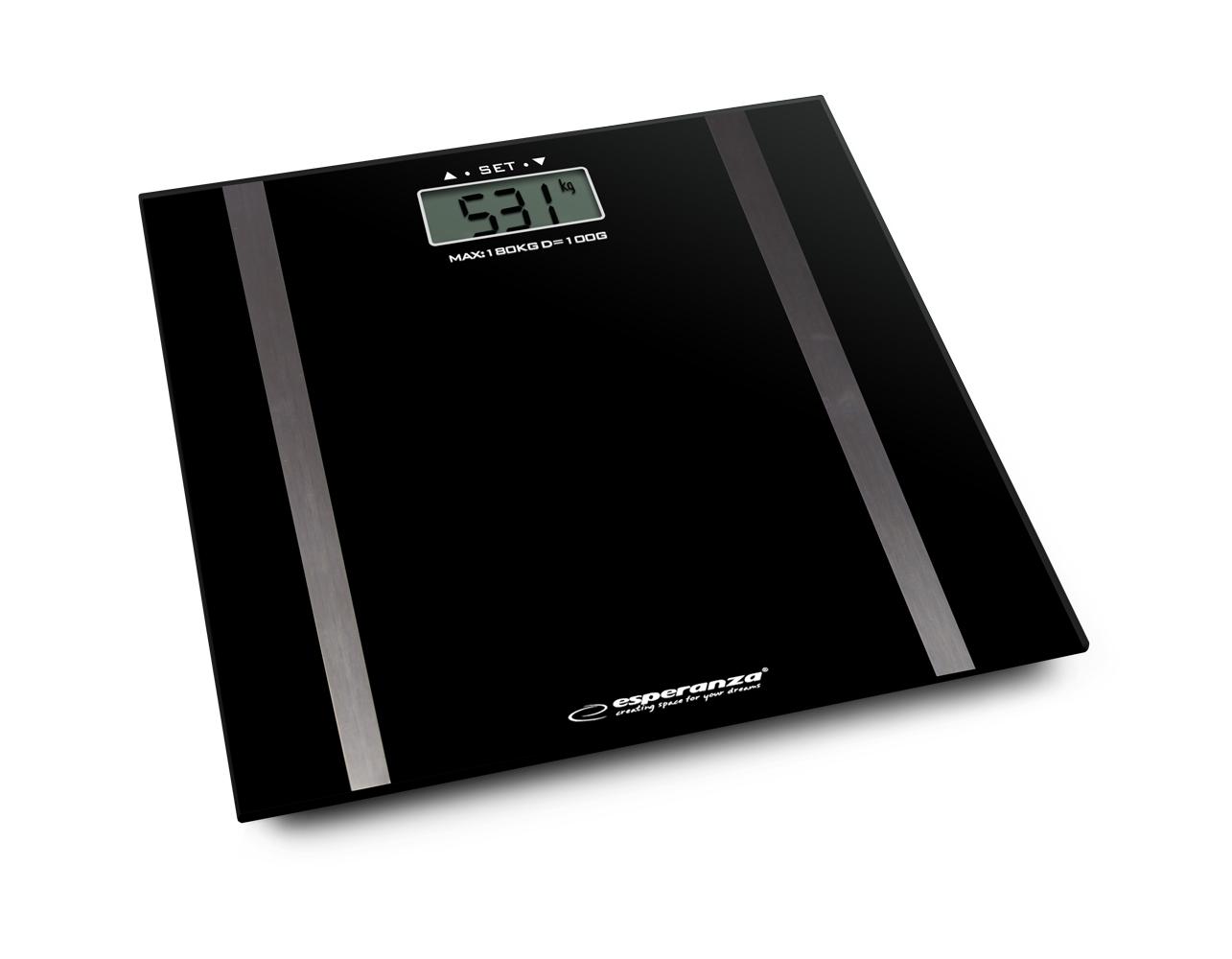 Ηλεκτρονική Ζυγαριά Μπάνιου Λιπομετρητής Χρώματος Μαύρο Esperanza EBS018K