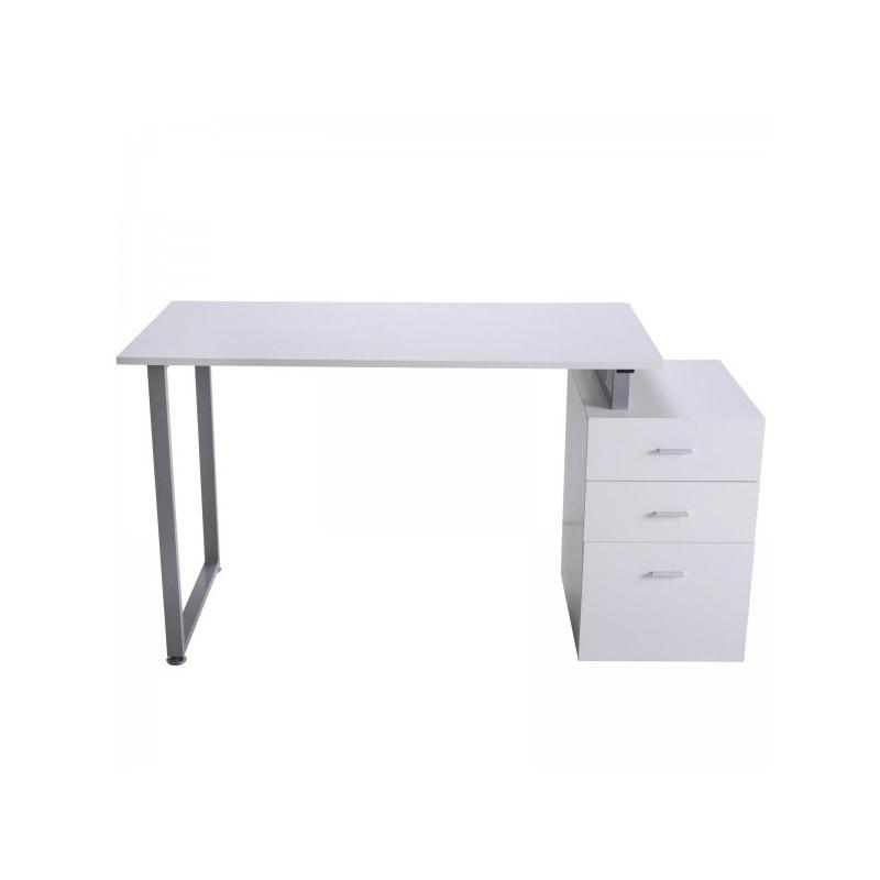 Γραφείο με 3 Αφαιρούμενα Συρτάρια 148 x 60 x 76 cm Χρώματος Λευκό HOMCOM 836-128WT