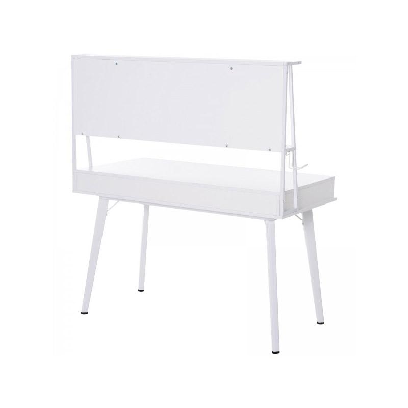 Γραφείο με Μαγνητικό Πίνακα 127.5 x 60 x 133.5 cm Χρώματος Λευκό HOMCOM 836-131WT