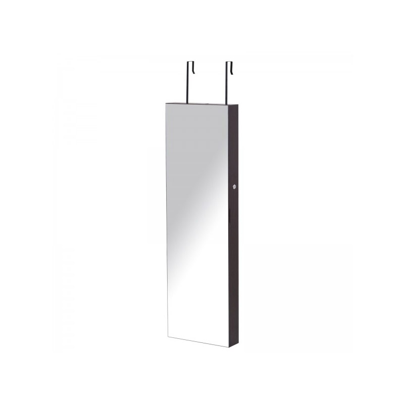 Κρεμαστή Κοσμηματοθήκη Μπιζουτιέρα με Ολόσωμο Καθρέπτη και LED Φωτισμό 37 x 120 x 10 cm HOMCOM 831-269