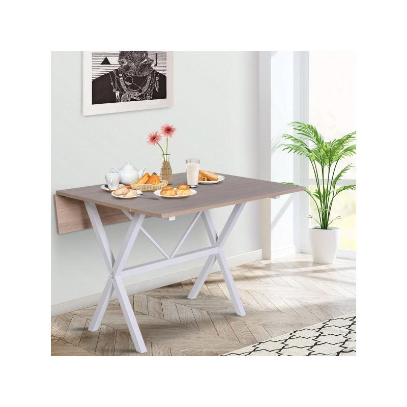Πτυσσόμενο Τραπέζι 109 x 102 x 79 cm Χρώματος Καφέ HOMCOM 835-119AK