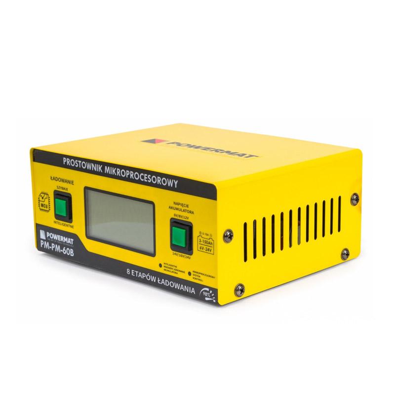 Φορτιστής Μπαταρίας Αυτοκινήτου με Μικροεπεξεργαστή 6/24 V 10 A POWERMAT PM-PM-60B