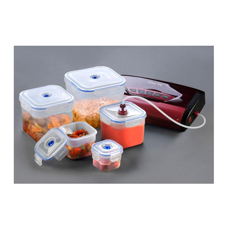 Σετ 5 Μπολ Φαγητού με Αντλία Κενού Αέρος και Βαλβίδα για τη Συσκευή Vital Vac XSQUO 8480113848720