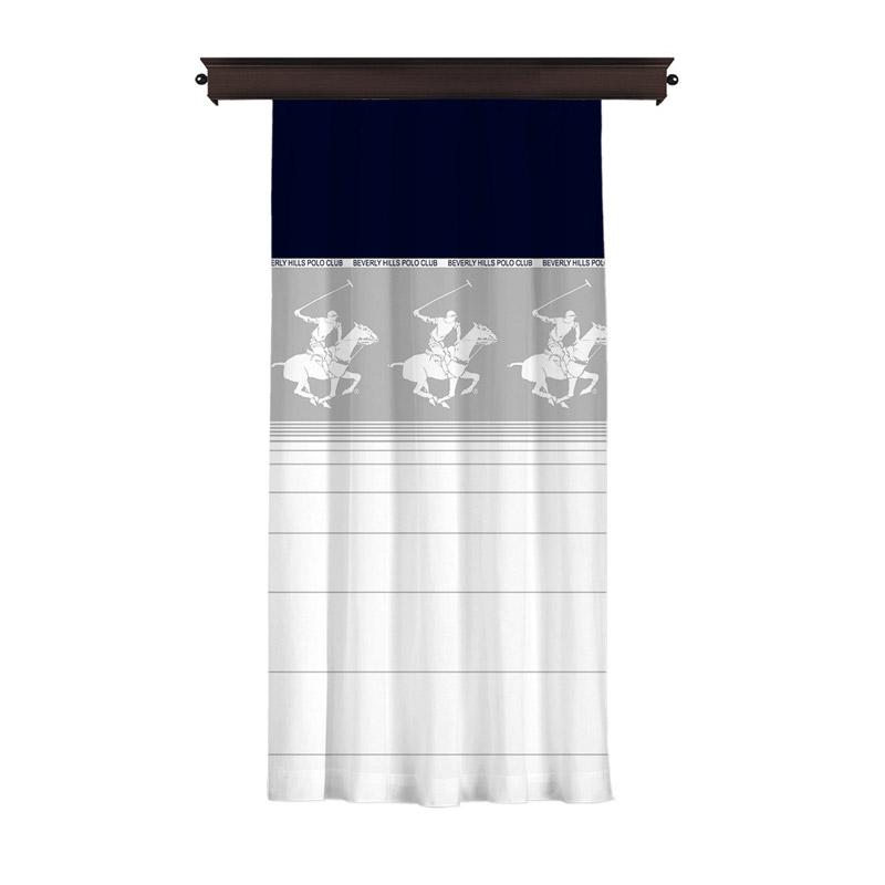 Κουρτίνα με Τρουκς 140 x 260 cm Beverly Hills Polo Club 176BHP8824