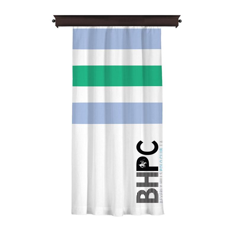 Κουρτίνα με Τρουκς 140 x 260 cm Χρώματος Λευκό Beverly Hills Polo Club 176BHP8817
