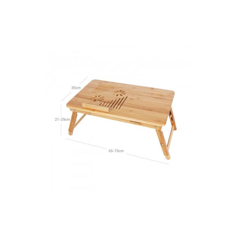 Ξύλινο Βοηθητικό Πτυσσόμενο Τραπέζι Πολλαπλών Χρήσεων με Βάση για Laptop Songmics LLD002